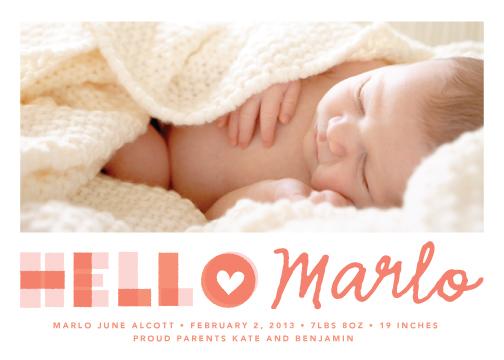 birth announcements - A Heartfelt Hello by annie clark