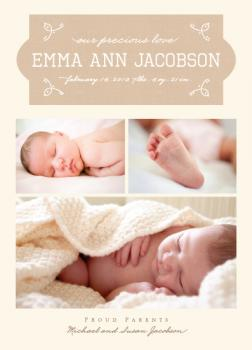 Doodle Bug Birth Announcements