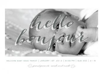 bilingual baby Birth Announcements