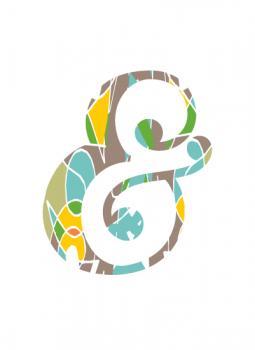 pattern ampersand Art Prints