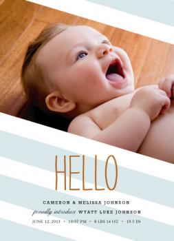 Hello Stripe Birth Announcements