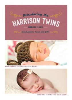 Harrison Twins Birth Announcements