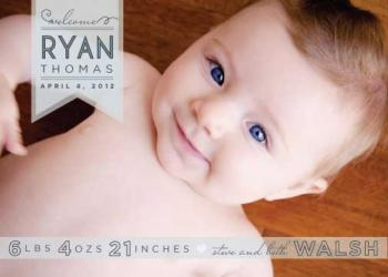 Blue Eyes Birth Announcements