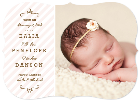 birth announcements - Angelic by Sarah Curry