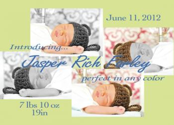 Perfect In Any Color Birth Announcements
