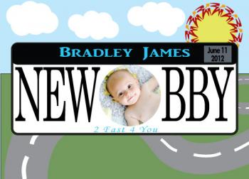 Vanity Plate Birth Announcements