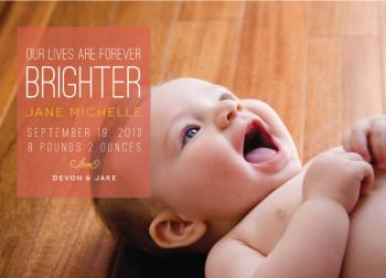 Forever Brighter Birth Announcements