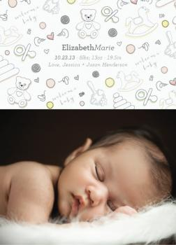 Baby Blanket Birth Announcements