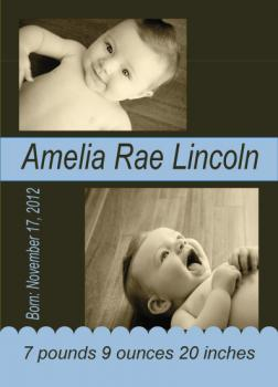 Little Baby Blue Birth Announcements