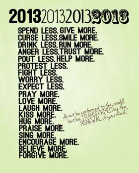 A new year, renew your mind