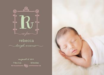 B is for Baby Birth Announcements
