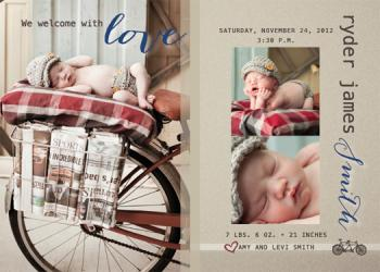 Loving Welcome Birth Announcement Birth Announcements