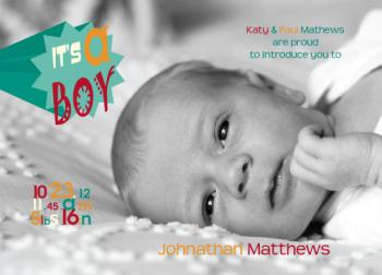 Its a boy Birth Announcements
