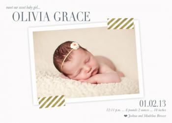 Gracefully Announced Birth Announcements