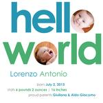 hello world by Lidia Varesco Design