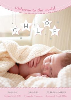 Sweet Starry Dreams Birth Announcements
