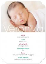 baby stats by Lidia Varesco Design