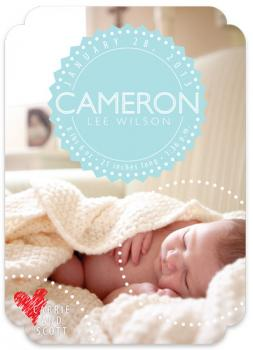 Circle your love Birth Announcements