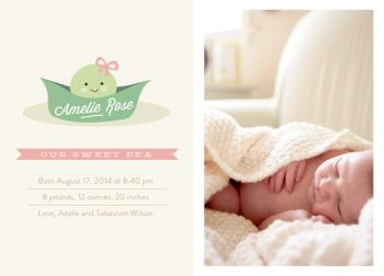 Sweet Pea Birth Announcements
