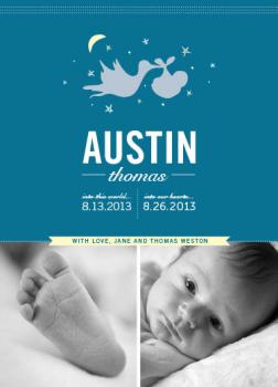 Starstruck Stork Birth Announcements