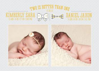 Two is Better Than One Birth Announcements