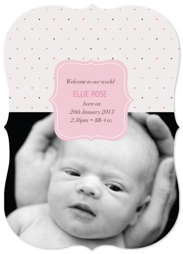 birth announcements - Pretty Polkadot by Jordan Bariesheff