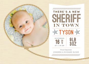 New Sheriff Birth Announcements