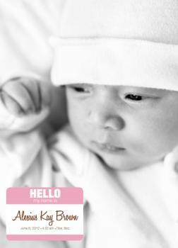 Baby Name Tag - Girl version 1