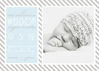 Striking Stripes Birth Announcements