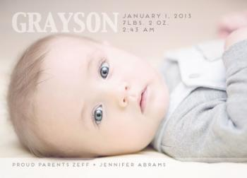Clear Skies Birth Announcements