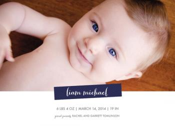 Chevron Styling Birth Announcements