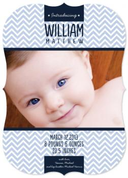 Banner Chevron Birth Announcements