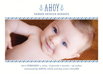 Ahoy Baby Birth Announcements