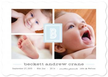 Gallery Block Birth Announcements