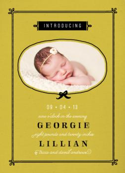 Bow Peep Birth Announcements
