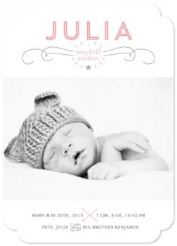 Simply Sweet Birth Announcements