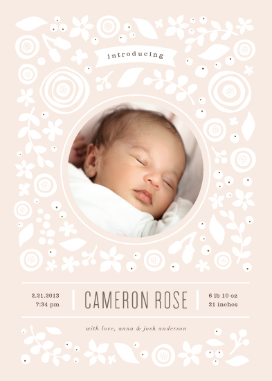 birth announcements - Petite cut flowers by Jennifer Wick