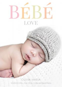 BeBe Love Birth Announcements