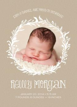Craft Laurel Wreath Birth Announcements