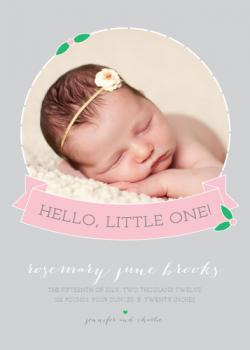 Baby Flower Birth Announcements