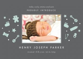 Baby at Play Birth Announcements