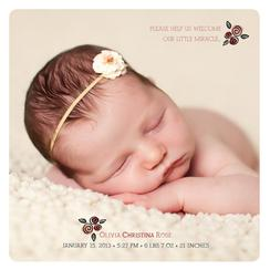 Bundle of Roses Birth Announcements