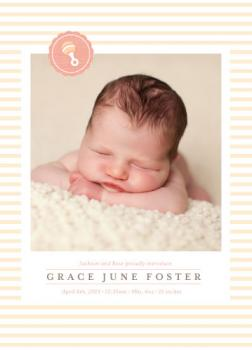 Soft Stripes Birth Announcements