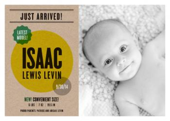Just Arrived Birth Announcements