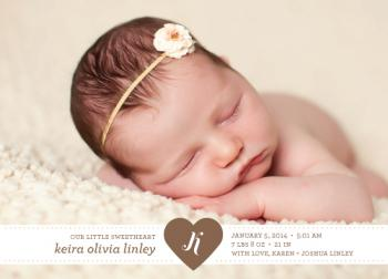 Our Little Sweetheart Birth Announcements