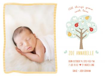 All things grow with love Birth Announcements
