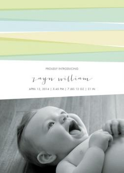 Soft Ribbons Birth Announcements