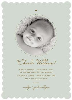 The Message Birth Announcements