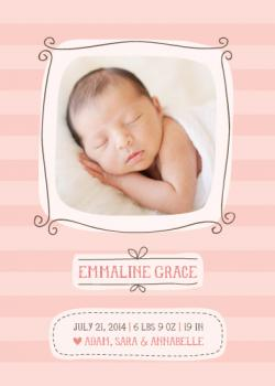 sweet frame Birth Announcements
