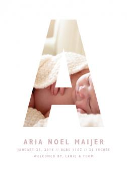Letter Frame Birth Announcements